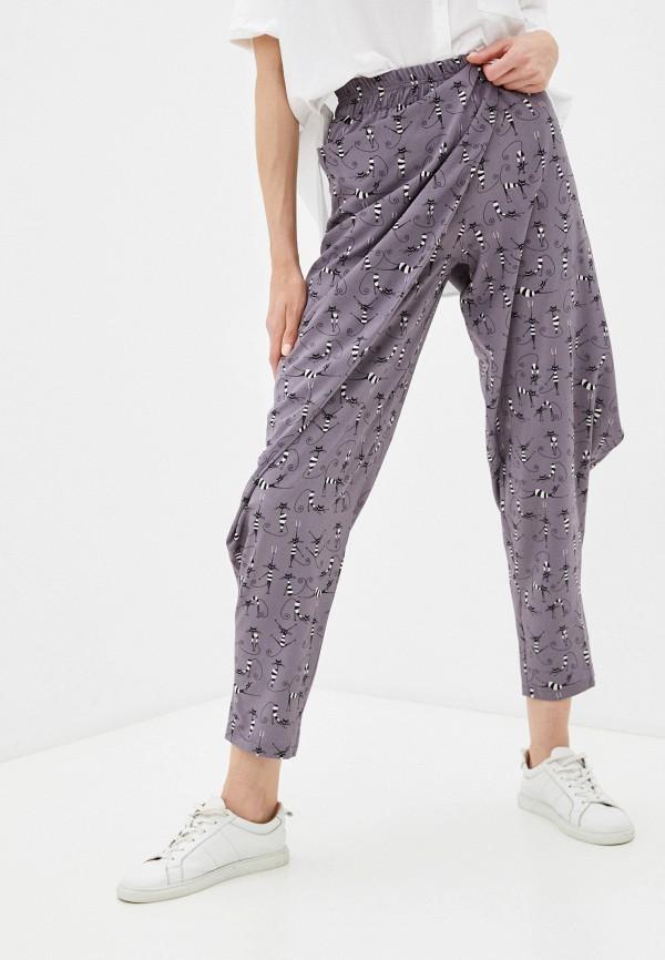 женские зауженные брюки dizzyway, фиолетовые