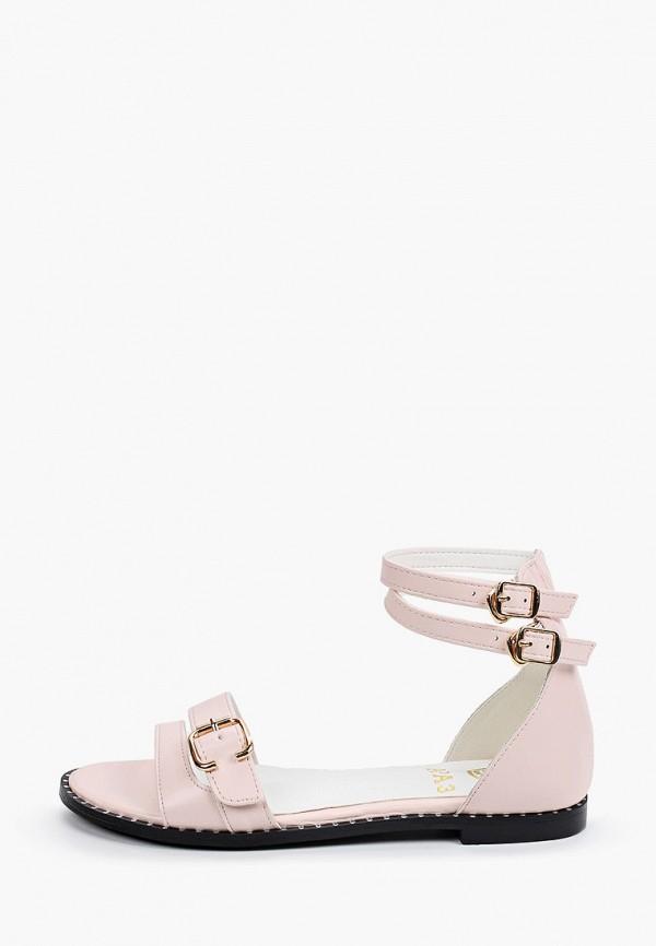 женские сандалии араз, розовые
