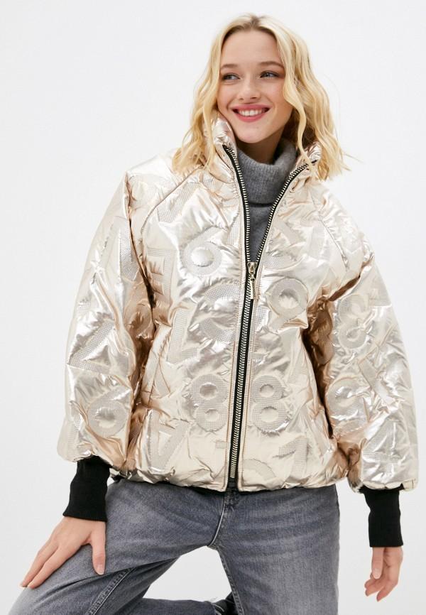 женская утепленные куртка naturel, золотая