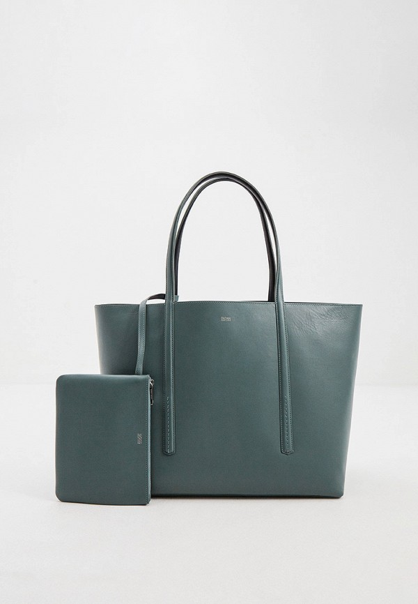 женская сумка-шоперы boss, бирюзовая