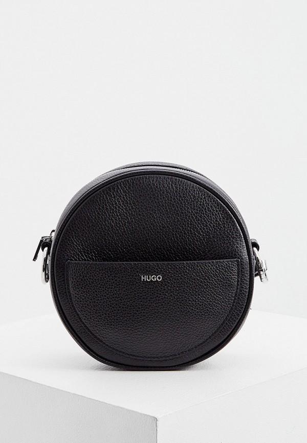женская сумка через плечо hugo, черная