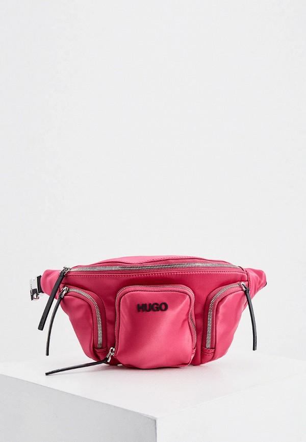 женская поясные сумка hugo, розовая
