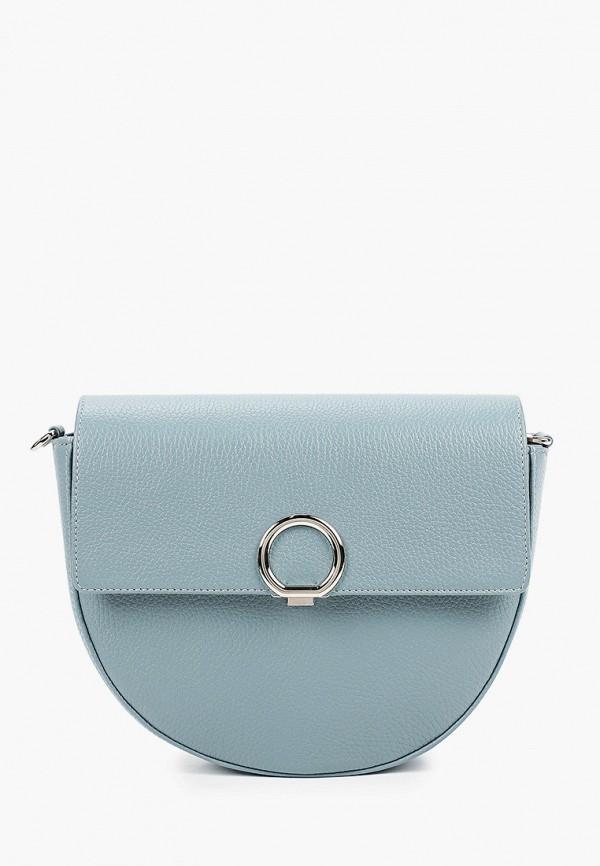 женская сумка через плечо afina, голубая