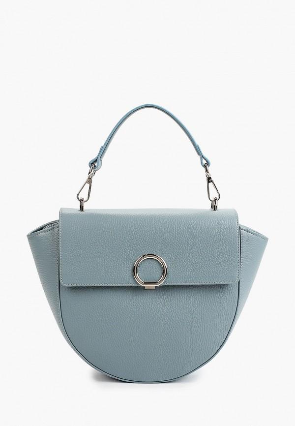 женская сумка с ручками afina, голубая