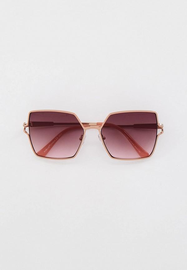 женские квадратные солнцезащитные очки furlux, зеленые