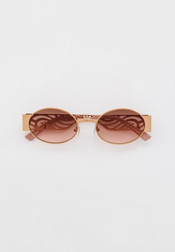 женские солнцезащитные очки furlux, золотые