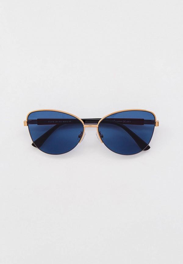 женские солнцезащитные очки кошачьи глаза furlux, золотые