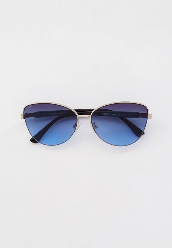женские солнцезащитные очки кошачьи глаза furlux, серебряные