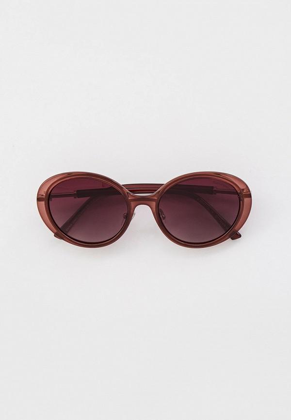 женские круглые солнцезащитные очки katrin jones, коричневые