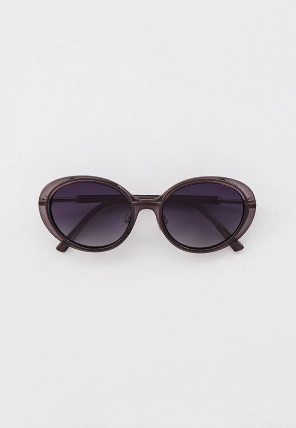 женские круглые солнцезащитные очки katrin jones, серые