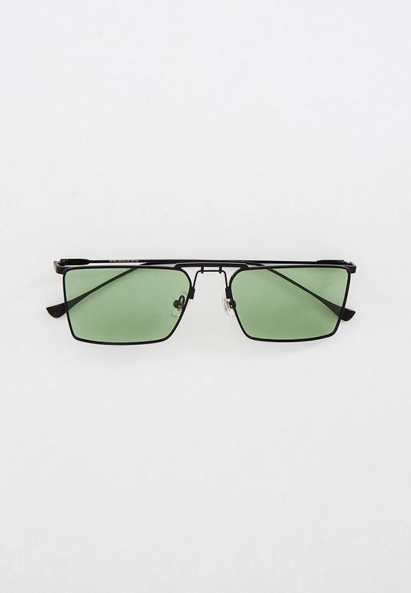 женские квадратные солнцезащитные очки kaizi, зеленые