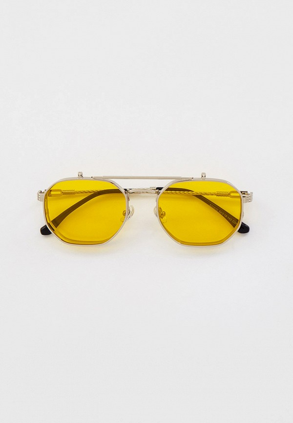 женские солнцезащитные очки kaizi, серебряные