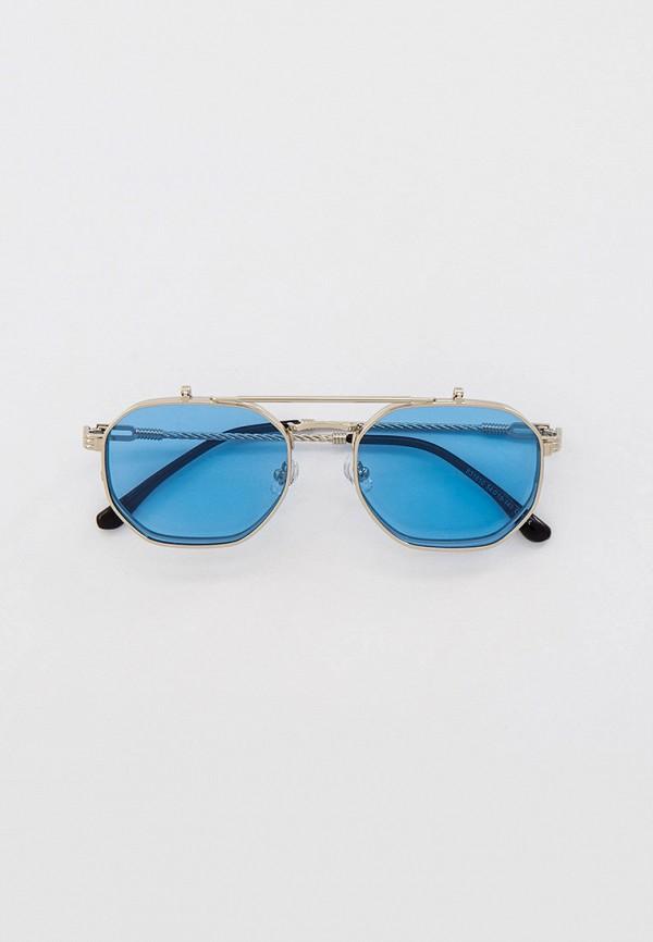 женские круглые солнцезащитные очки kaizi, серебряные