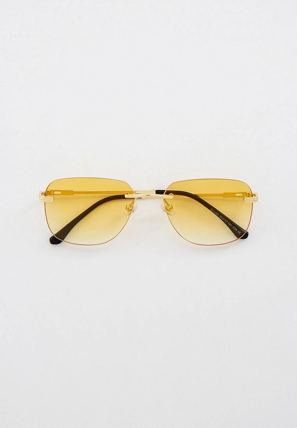 женские квадратные солнцезащитные очки kaizi, золотые