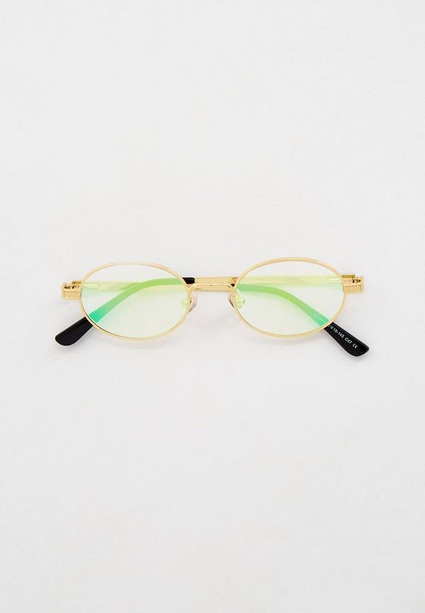 женские круглые солнцезащитные очки kaizi, золотые