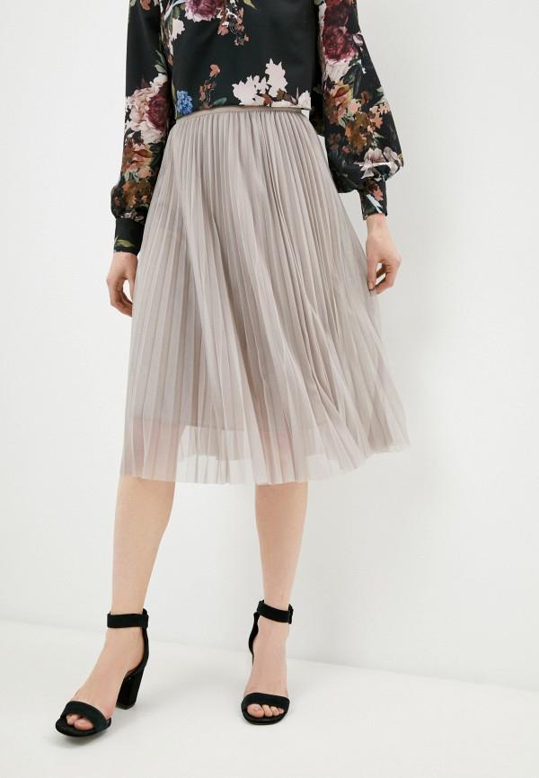 женская плиссированные юбка oddwood, бежевая