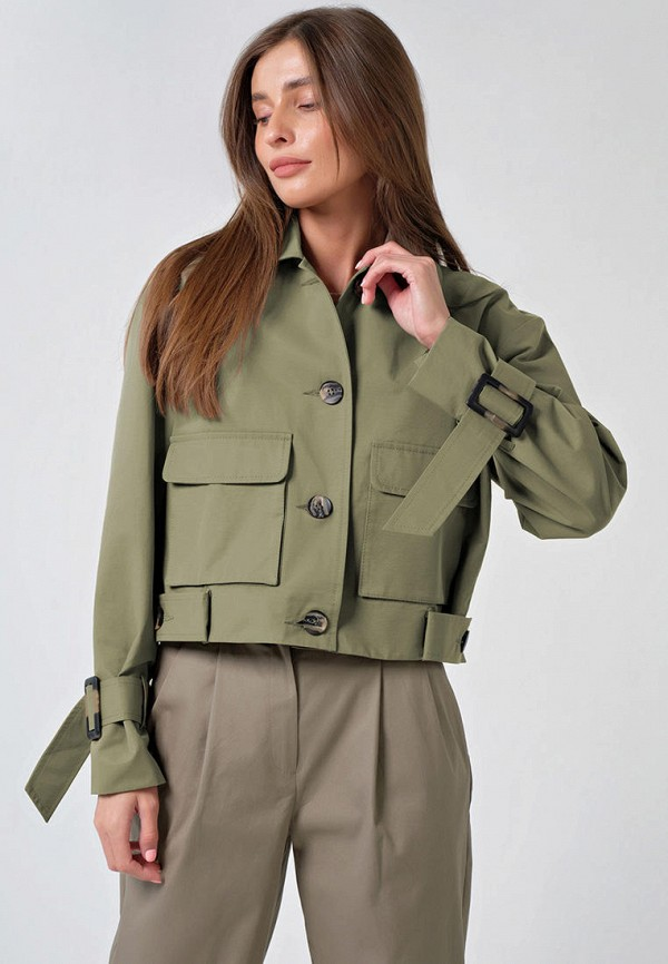 женская легкие куртка fly, хаки