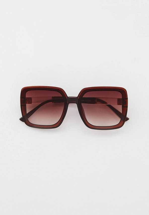 женские квадратные солнцезащитные очки marco bonne', коричневые