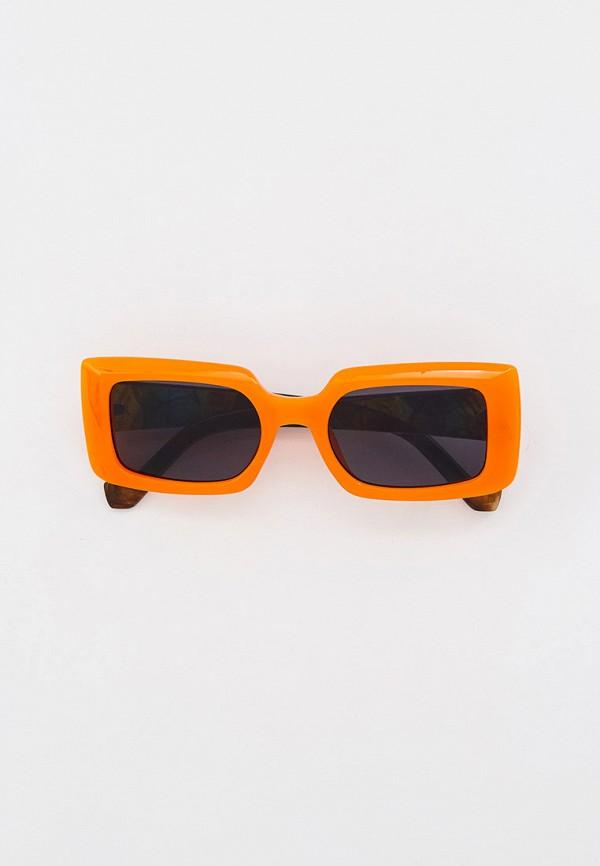 женские квадратные солнцезащитные очки marco bonne', оранжевые