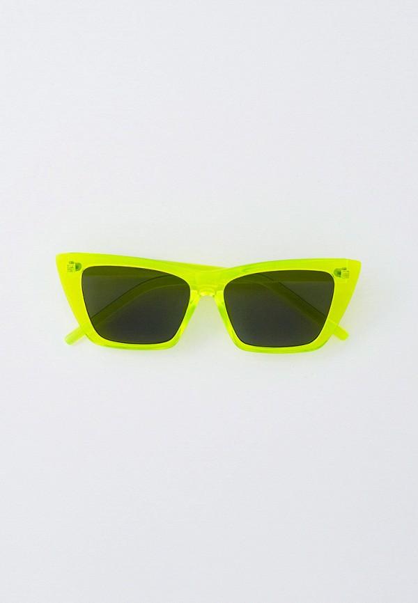 женские солнцезащитные очки кошачьи глаза marco bonne', зеленые