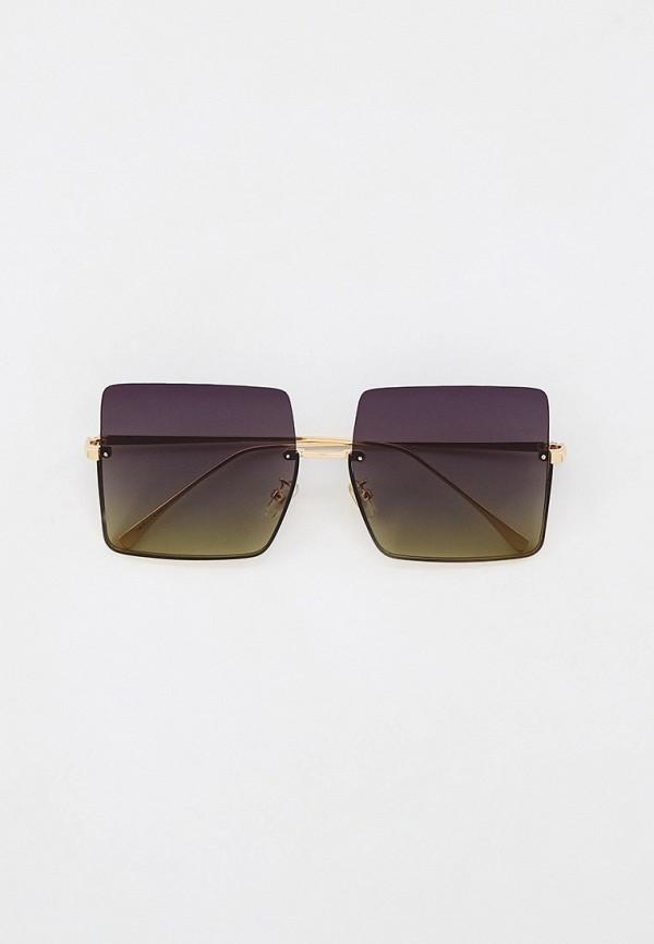 женские квадратные солнцезащитные очки marco bonne', золотые