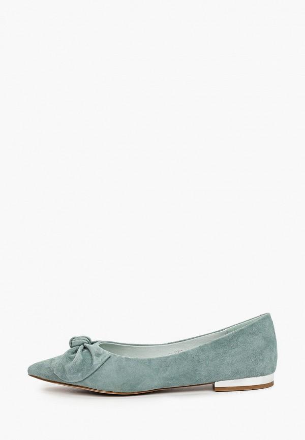 женские туфли с закрытым носом valley, зеленые