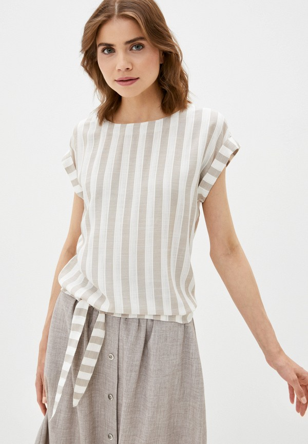 женская блузка с коротким рукавом dizzyway, бежевая