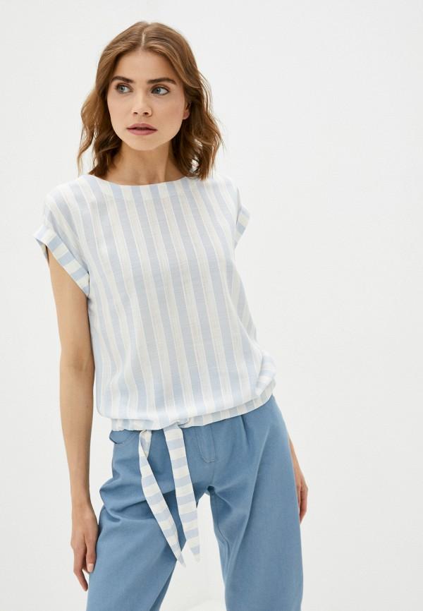 женская блузка с коротким рукавом dizzyway, голубая