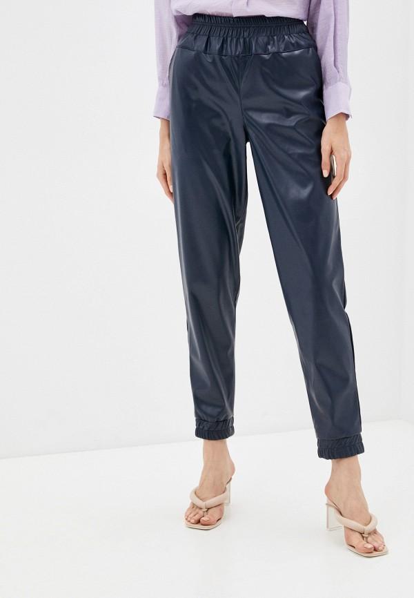 женские кожаные брюки dizzyway, синие