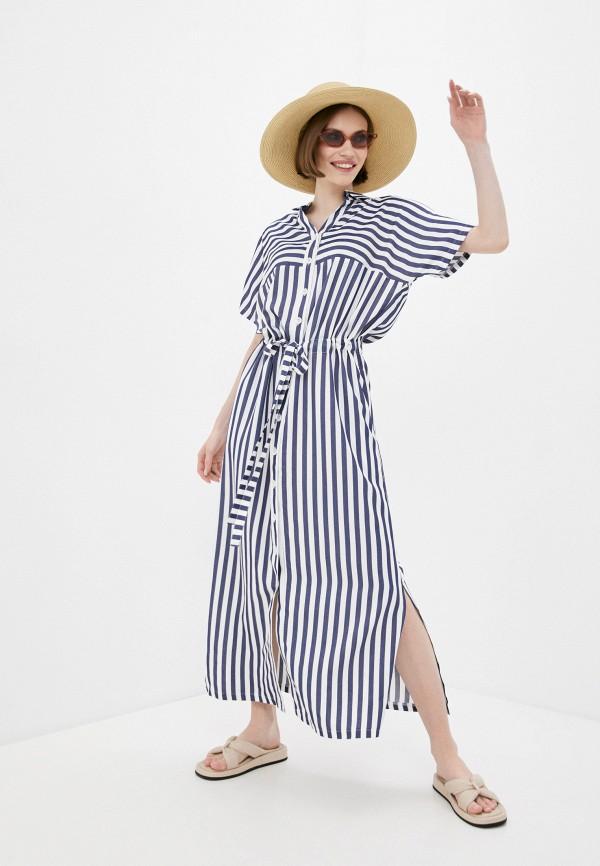 женское платье-рубашки dizzyway, синее