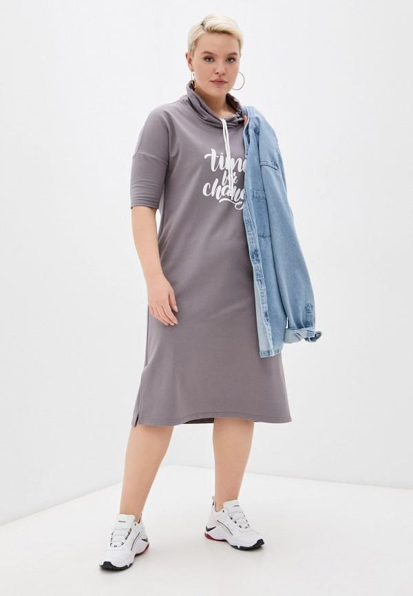 женское платье-толстовки dizzyway, серое