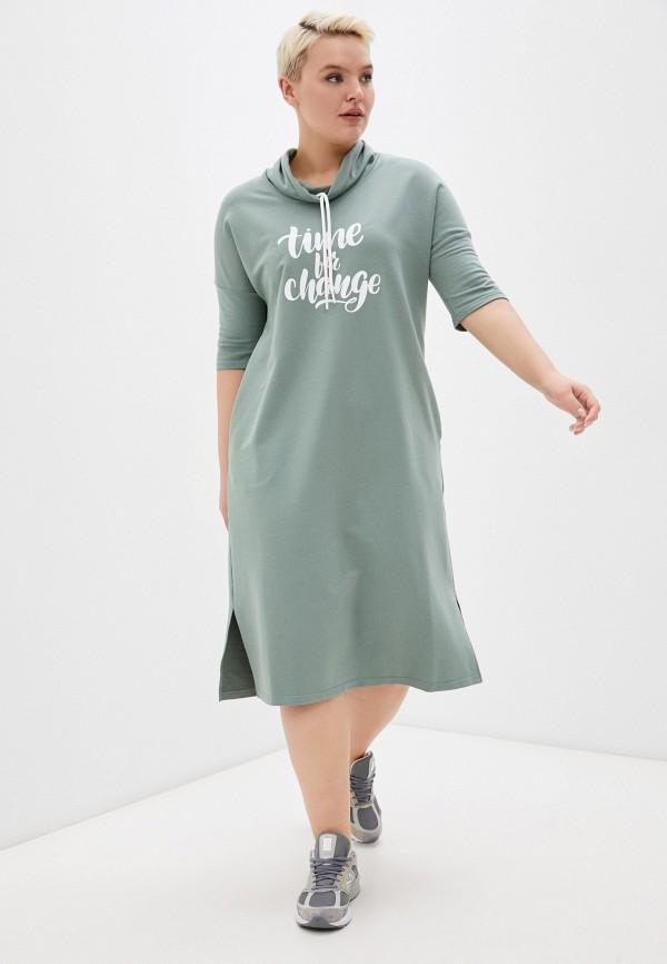женское платье-толстовки dizzyway, зеленое