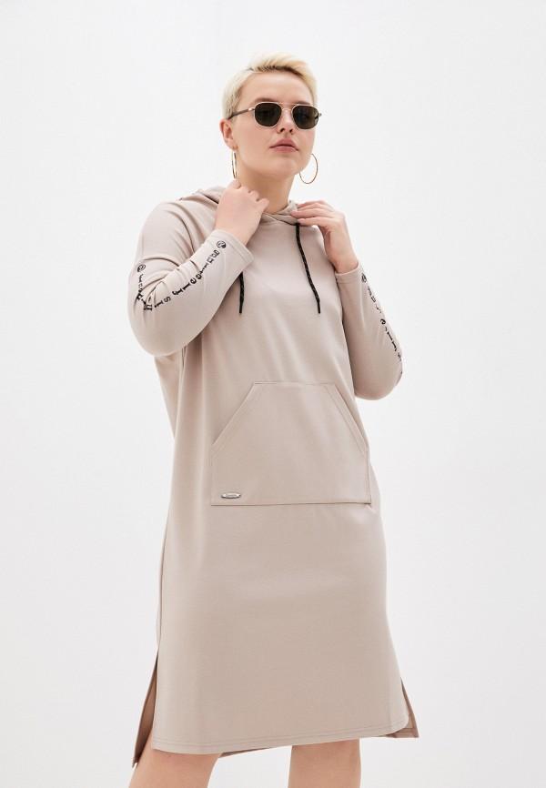 женское платье-толстовки dizzyway, бежевое