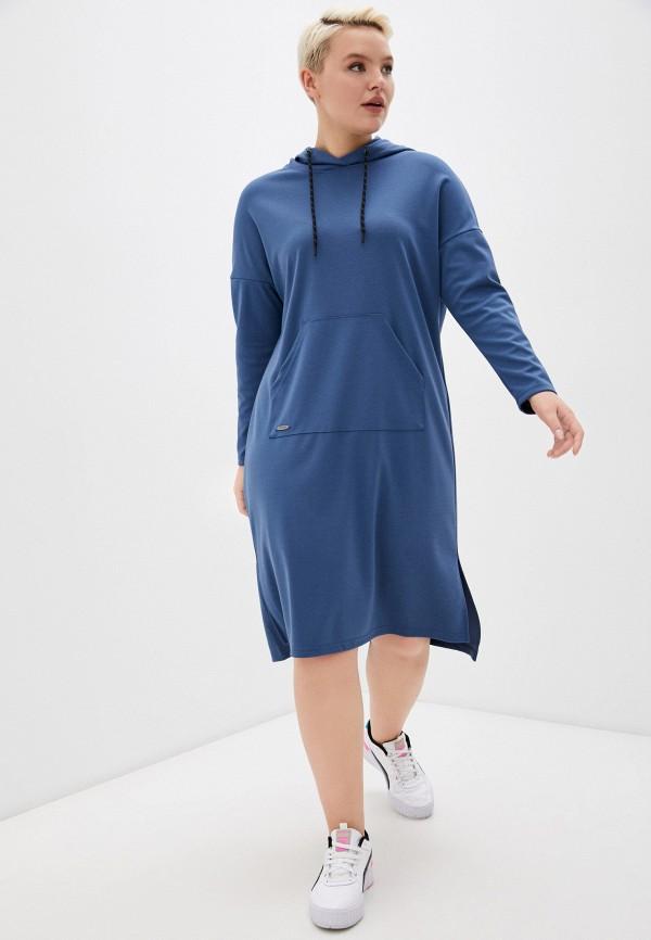 женское платье-толстовки dizzyway, синее