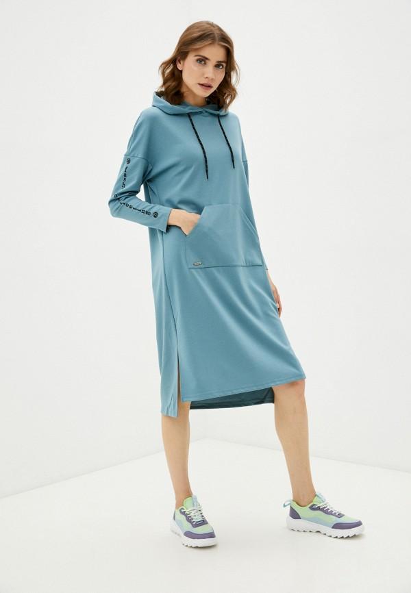 женское платье-толстовки dizzyway, голубое