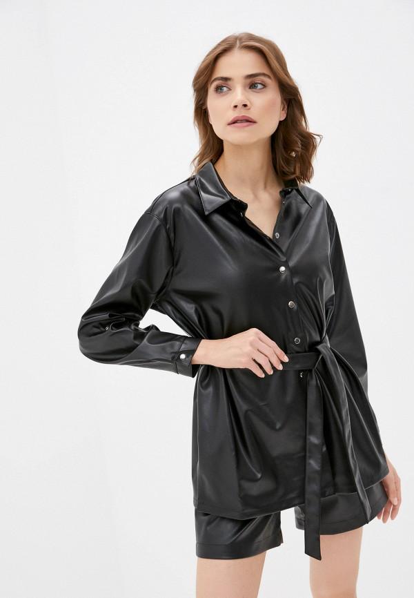 женская рубашка с длинным рукавом dizzyway, черная