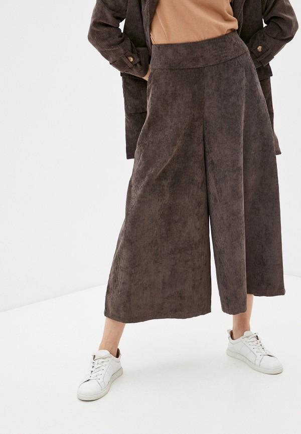 женские брюки клеш dizzyway, коричневые