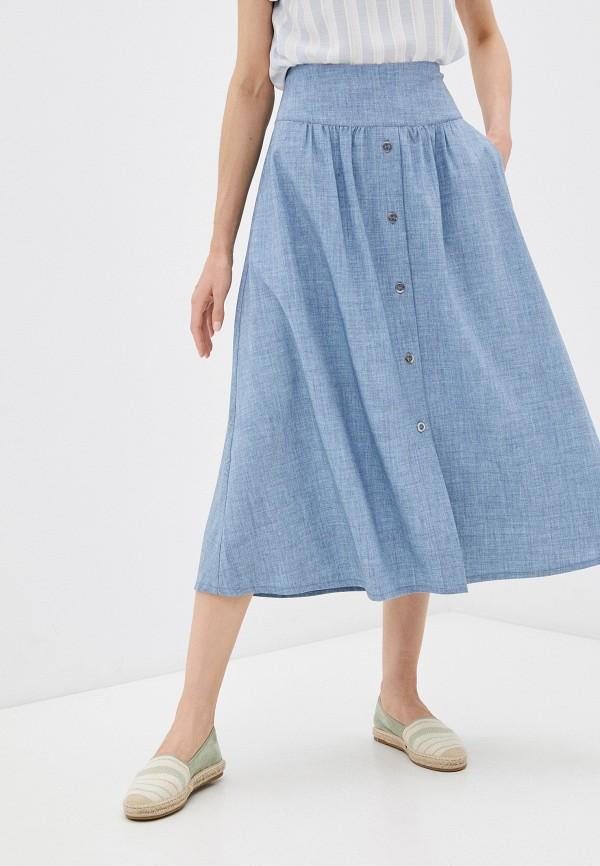 женская юбка-трапеции dizzyway, голубая