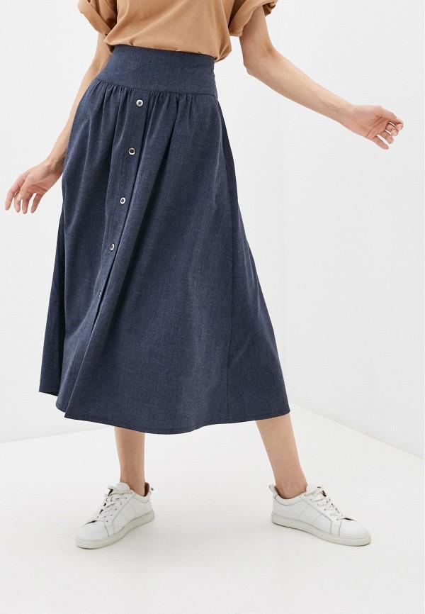 женская юбка-трапеции dizzyway, синяя