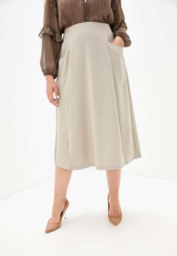 женская юбка-трапеции dizzyway, бежевая