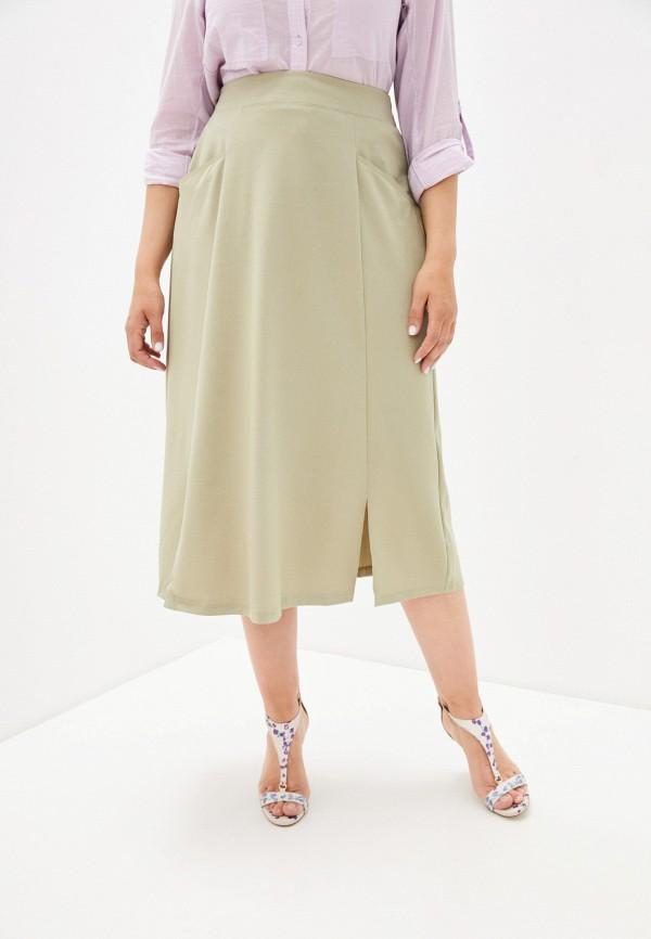 женская юбка-трапеции dizzyway, зеленая