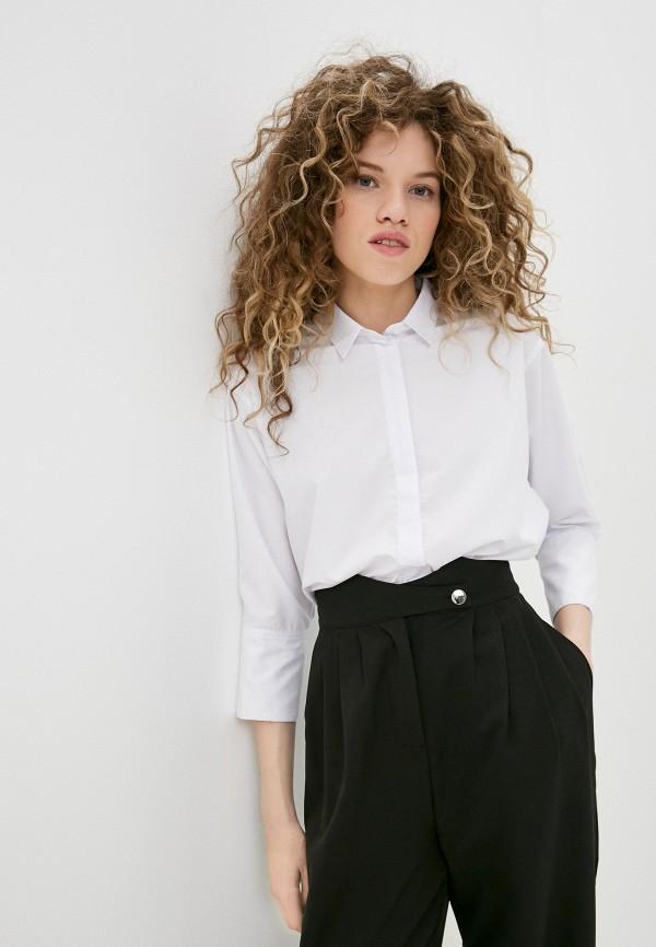 женская рубашка с длинным рукавом trends brands, белая