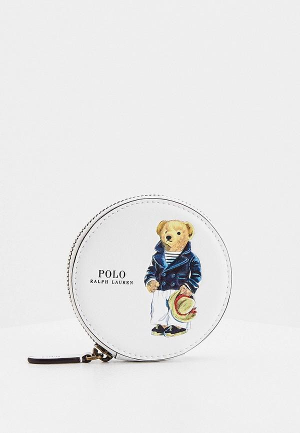 женский кошелёк polo ralph lauren, белый