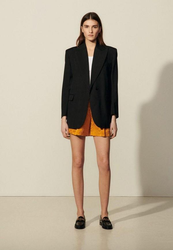 женский пиджак sandro, черный