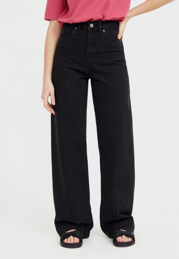 женские джинсы клеш finn flare, черные