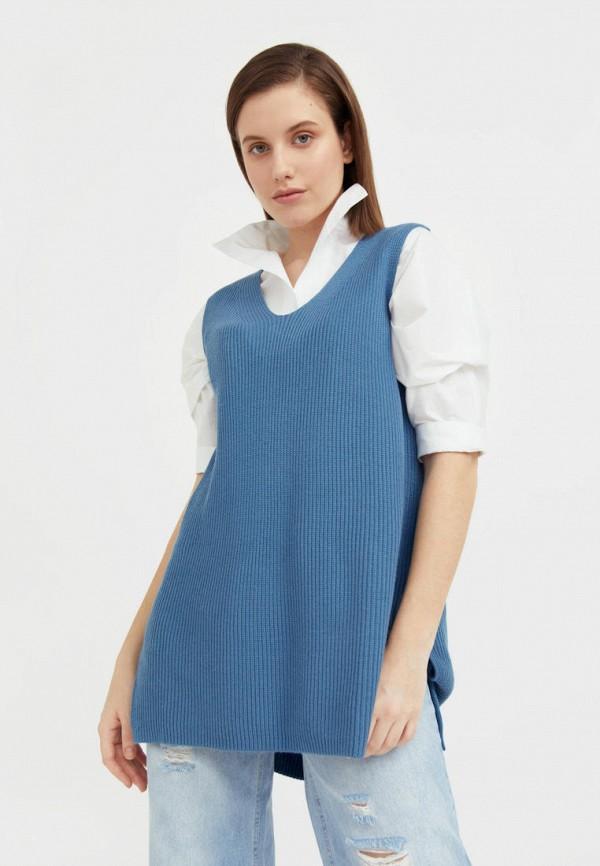 женский жилет finn flare, синий
