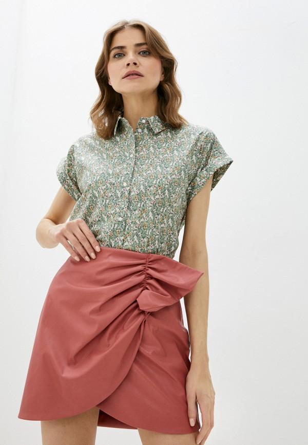 женская блузка с коротким рукавом baon, белая