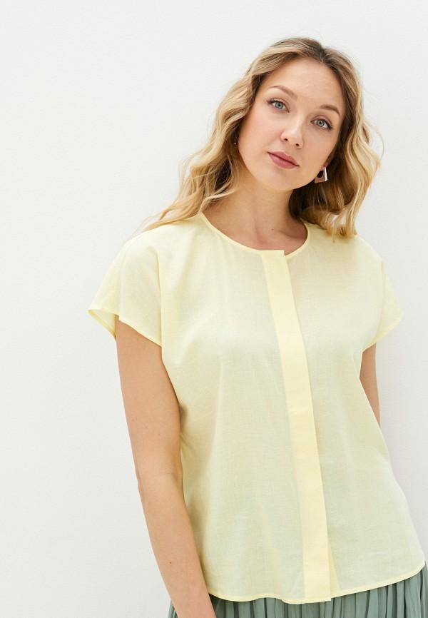 женская блузка с коротким рукавом baon, желтая