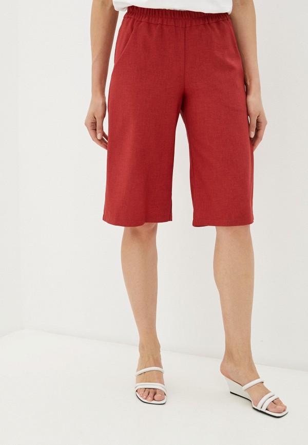 женские повседневные шорты baon, красные