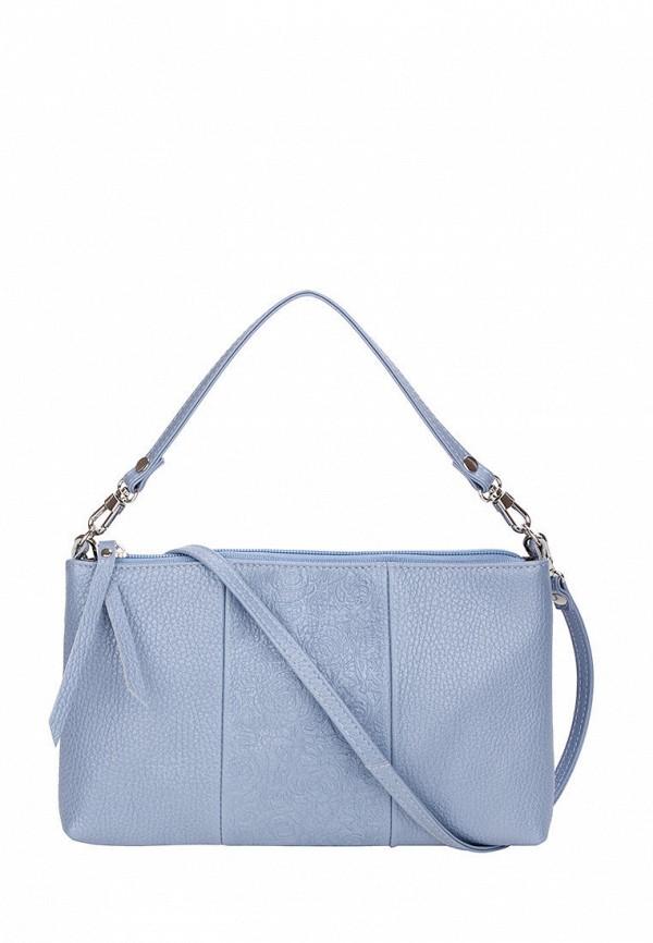 женская сумка с ручками esse, голубая